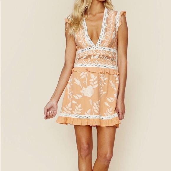 For Love And Lemons Dresses Mia Paneled Mini Dress Poshmark